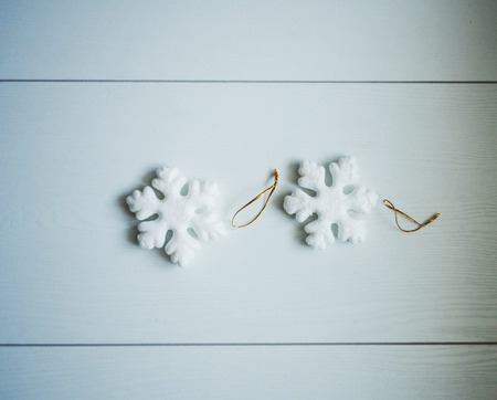 high definition snowflakes wooden background