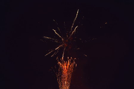 Fireworks at New Year - abstract holiday background