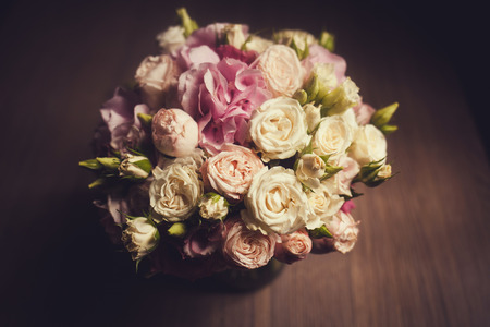 beautiful roses in a floral bouquet Stock fotó