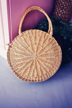 Bag straw summer woman