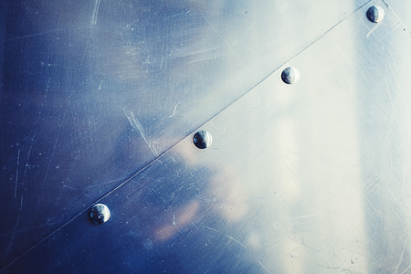 scratched metal background. copy space Stock Photo