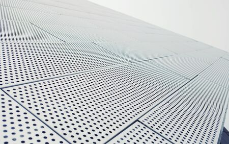 Metal pattern architecture details facade new office building