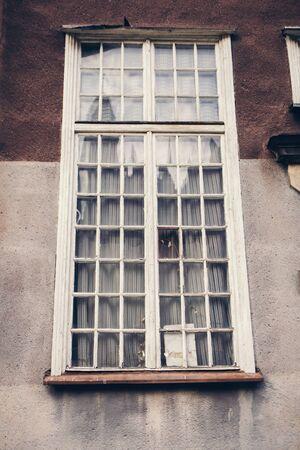 vintage design of old windows in Poland