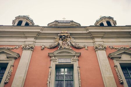 fragment of an old historical building in Poland