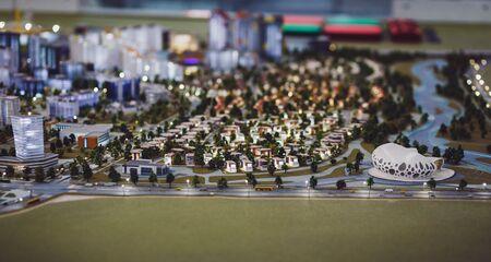 Night city megalopolis in miniature Stock Photo