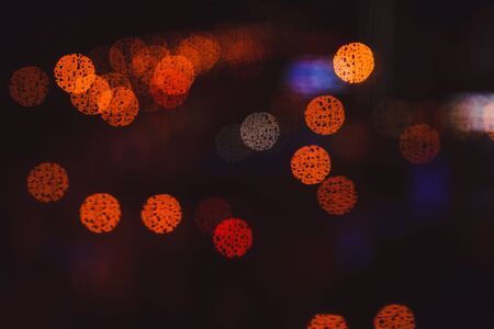 City night lights. Abstract twinkled bright background Stockfoto