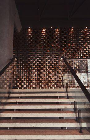 stairs in luxury restaurant interior in loft style