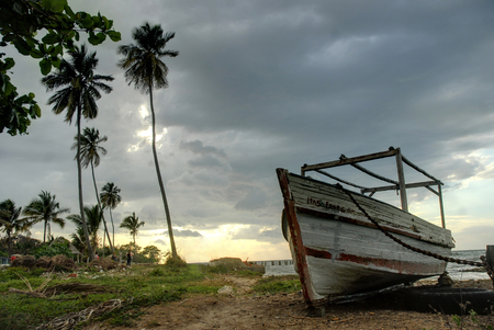 Seascape on the coast of the municipality of Campechuela province of Granma, Cuba. 新聞圖片