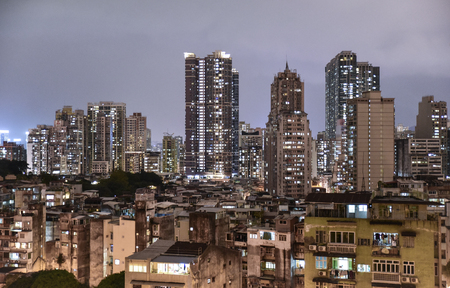 A dense residential area with contrasting periods of development and status; old and the new, rich and the poor