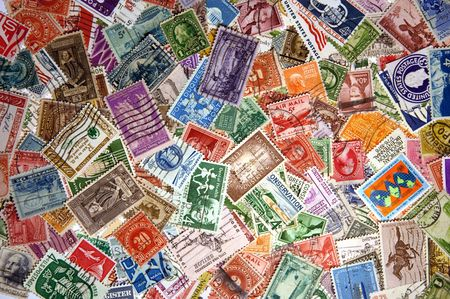 Pile of United States Postage Stamps