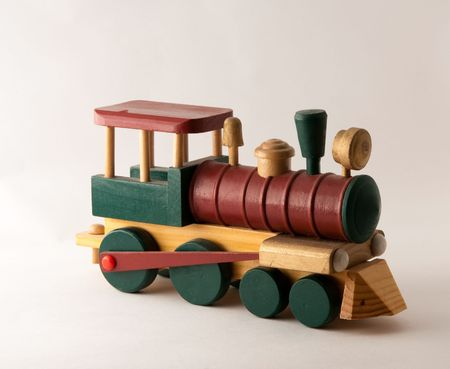Woodent Toy Train Engine photo