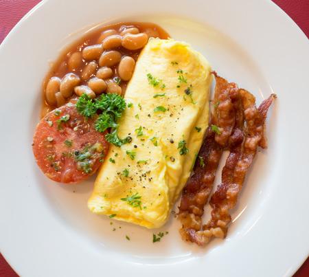 omlet: omlet peanut bacon tomato good for breakfast