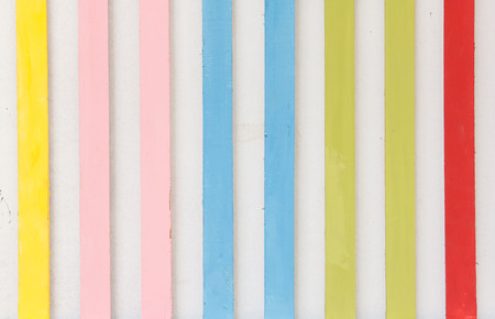 blue stripe: Colorful stripe made from wood hang on the wall for art decoration