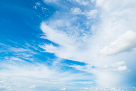 Beautiful fluffy cloud and blue sky on sunny day for nature background