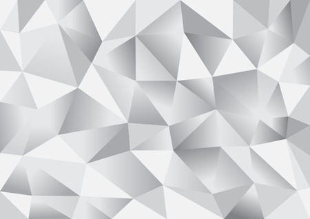 Abstract triangle polygon background in silver white color (vector EPS10) 矢量图像