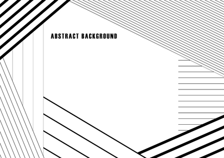 Abstract black and white stripe background, Vector illustration