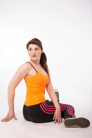 deported: Miss young athlete exercising your body Stock Photo