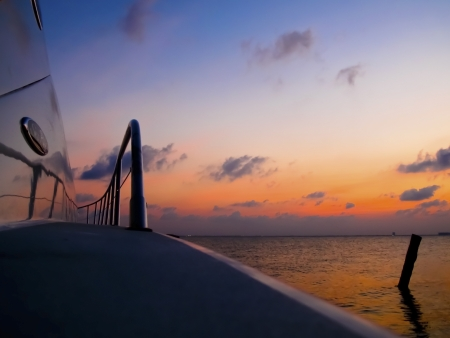 Boat Deck Sunset photo