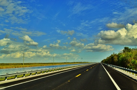 guardrail: Route 41 in southern Florida,