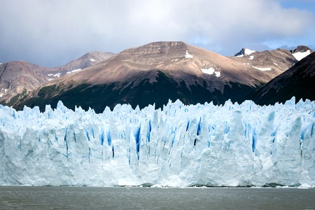 Glacier landscape view from cruise ship holiday travel. Global w Stock Photo