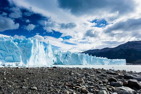 The Perito Moreno Glacier is a glacier located in the Los Glaciares National Park in Santa Cruz Province, Argentina. Stock Photo