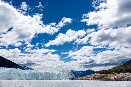 Wide angle shot, with lots of copy space, of Perito Moreno Glaci