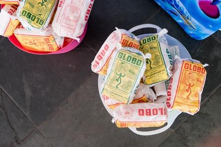 2018, Circa April: Bucket full of a Globo biscuits, a very tradicional brand in Rio de Janeiro . 新聞圖片