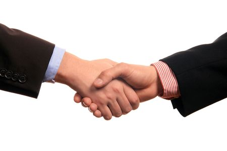 business shake hand Stock Photo
