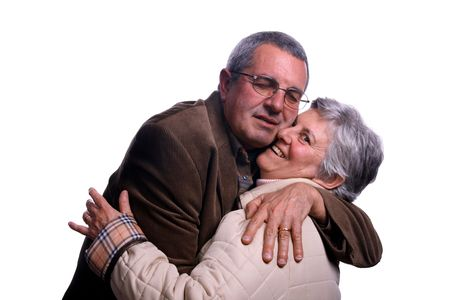 happy mature couple in studio Stock Photo - 2923531