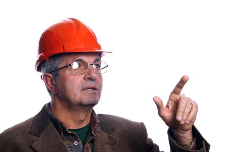 mature architect pointing up Stock Photo - 2946404