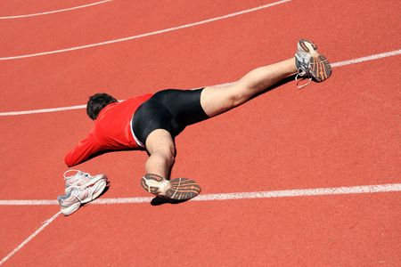 atlhetics outdoor in sport stadium Stock Photo - 2975247