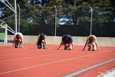 atlhetics outdoor in sport stadium Stock Photo - 3011929