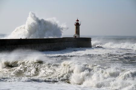 lighthouse in oporto in Portugal