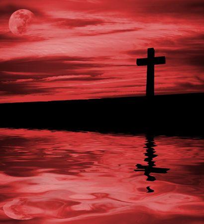 christian cross silhouette faith simbol photo