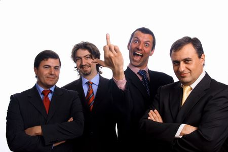businessteam over white background studio Stock Photo - 3170802