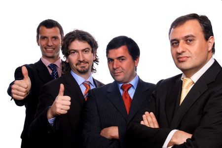 businessteam over white background studio