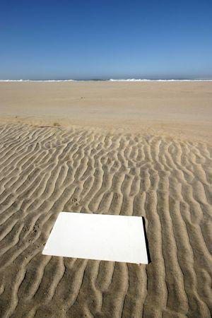 beach publicity in blue sky photo