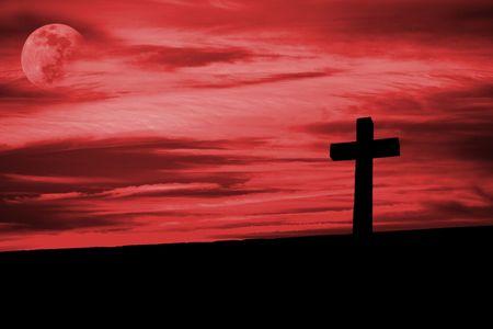 christian cross silhouette faith simbol Stock Photo - 3221125