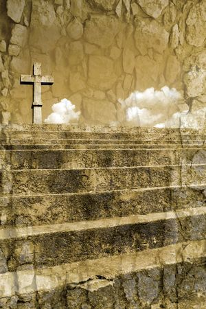 christian cross silhouette faith simbol Stock Photo - 3230318
