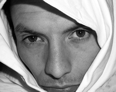 Beautiful eyes looking above burka