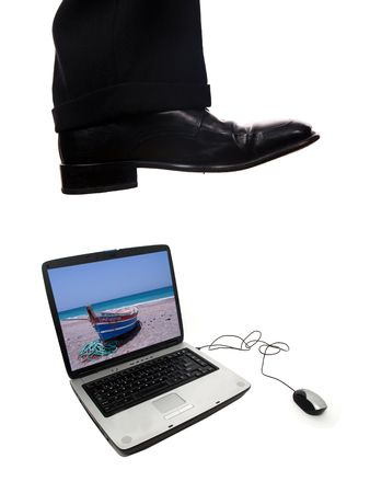 business shoe steping and destroying Stock Photo - 3323710