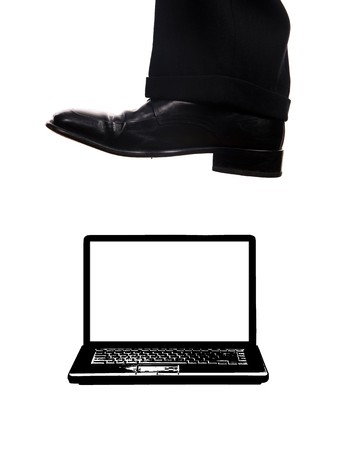 business shoe steping and destroying Stock Photo - 3982996