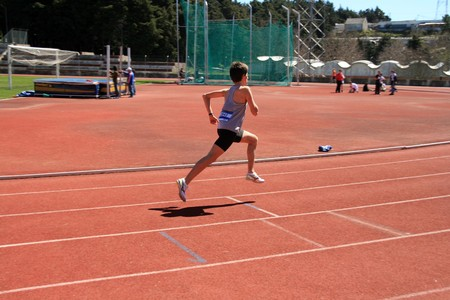 atlhetics outdoor in sport stadium Stock Photo - 3992966