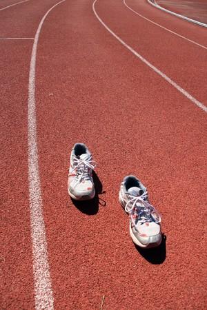 atlhetics outdoor in sport stadium Stock Photo - 3983024