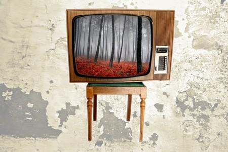 old vintage tv Stock Photo