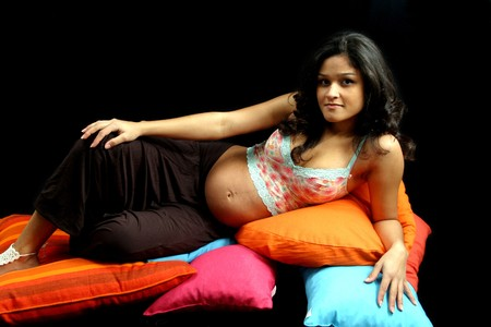 photo of beautiful pregnant female Stock Photo - 4242158