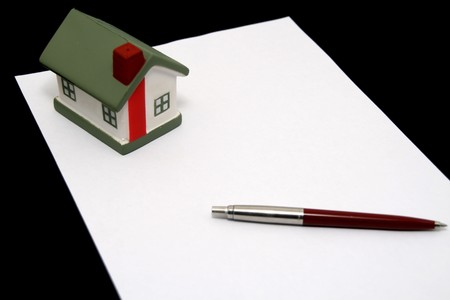 legal lease agreement document  Stock Photo