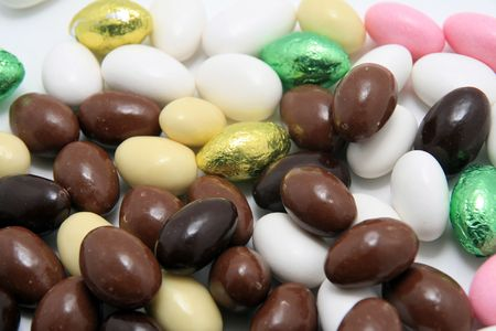 easter almonds, sugar and chocolate almonds photo
