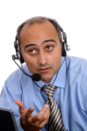 sexy man in a business call center Stock Photo - 4744332