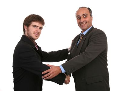 business shake hand, business photo Stock Photo